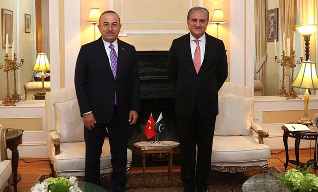 Bakan Çavuşoğlu'ndan ikili görüşmeler