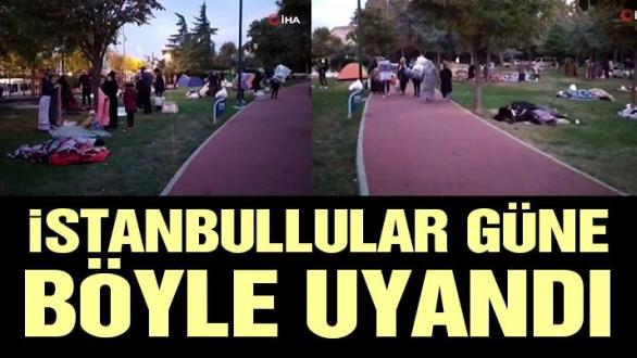 Depremin ertesi günü İstanbullular güne böyle uyandı
