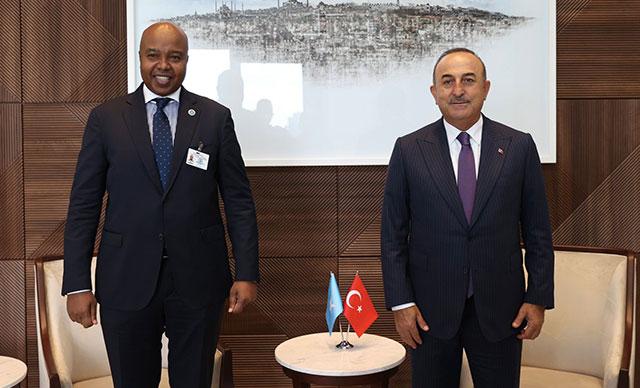 Dışişleri Bakanı Çavuşoğlu, Türkevi'ndeki temaslarına devam etti